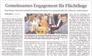 Pforzheimer Kurier und PZ 1. Juli 2016 zum Asyl-Informationsabend 29. Juni 2016